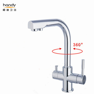 Single Hole Brass Kitchen Sink Faucet