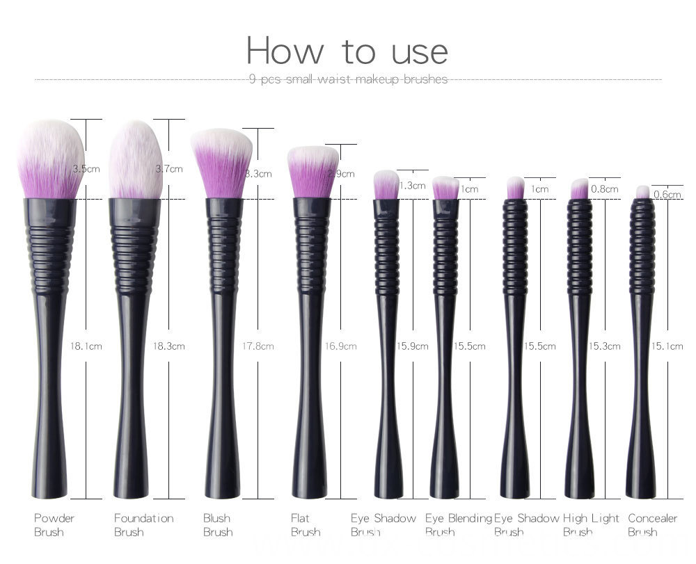 9 PCS Makeup Brushes Set 5