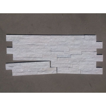 Internal wall white quartz thinner stone strips