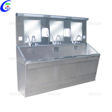 Stainless steel infrared sensor faucet floor-mounted medical sink