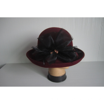 Women's Wool Felt Church Hats--YJ75