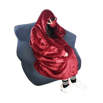 double layer luxury throw hoodie blanket