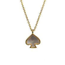 Gold Plated Mother of Pearl Heart Necklace