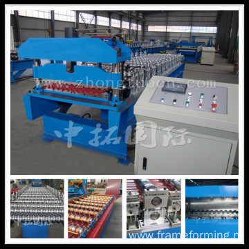 Steel good appearance corrugated sheet roll forming machine
