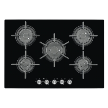 AEG Electrolux Gas Hob Black Glass 5バーナー