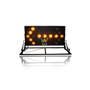 lifting-stand aluminum LED arrow signal traffic sign board