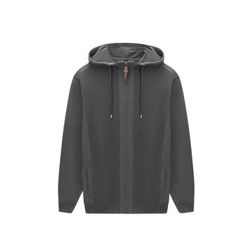 Men's Knitted Rib Zip-Through Thread Hoodie