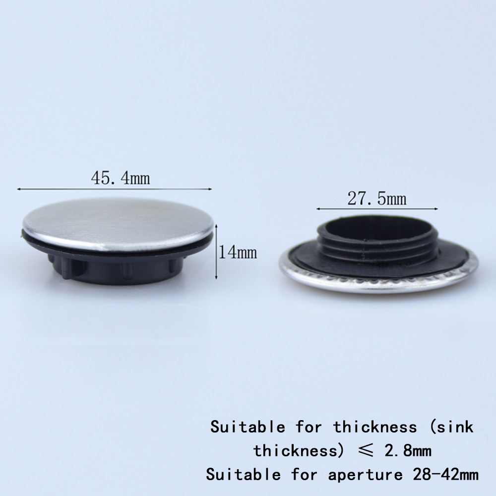 Kitchen Sink Tap Hole Blanking Plug Cover Plate Disk Polished Or Brushed Finish
