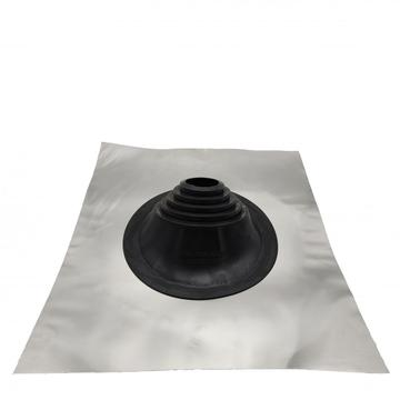 Customized roof flashing for slant pipe or chimney