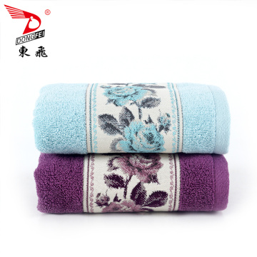 dyed jacquard satin bath towel