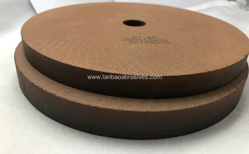 Flat edge BD polishing wheel on Sharp machine