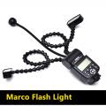 K808 Camera Flash Macro Light Flexible Macro LED Speedlight with Dual Flash Light Universal Flash for DSLR Canon Sony Nikon