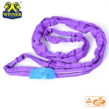 1T Purple Lifting Round SLing Cargo Lashing Belt