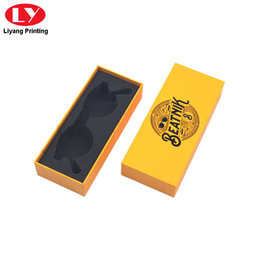 Fashion and luxury sunglass box with EVA insert