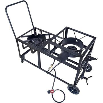 Outdoor Propane Burner with Wheels and Handle