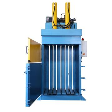 Vertical hydraulic baler machine
