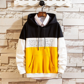 Men's polyester cotton hooded sweatshirt
