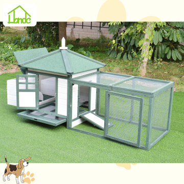 Durable fox proof wooden chicken coop with run