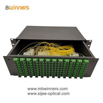 3U 96 Cores SC Fiber Optic Termination Box Patch Panel