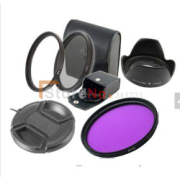 6 in 1 49mm or 52mm or 55mm 58mmUV CPLFLD Lens Filter+lens cap cover + Flower lens hood for canon nikon sony DSLR camera
