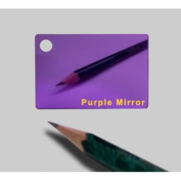 Purple Mirror Acrylic Plexiglass sheet 1.5mm Thick 1220*1830mm