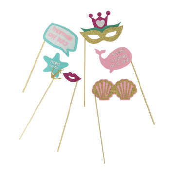 Mermaid photo booth props with new design