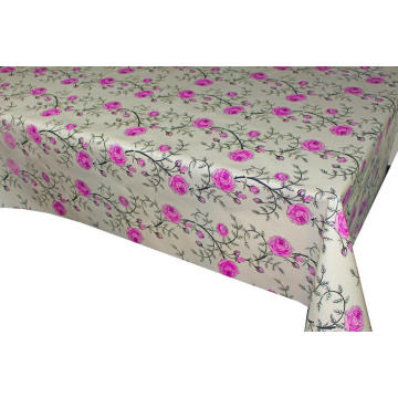 Elegant Vinyl Table Cover with Flannel Back