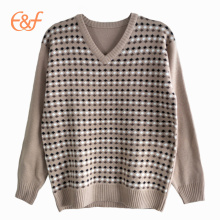 New Design Fashion Knitted Men's Jacquard Sweater