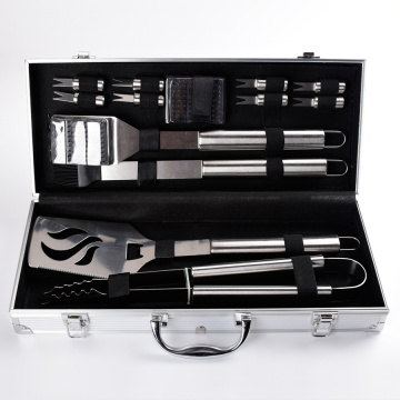 Stainless Steel BBQ Tools Set with Box