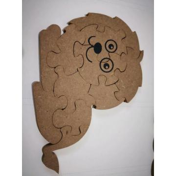 MDF animal shape puzzle-lion