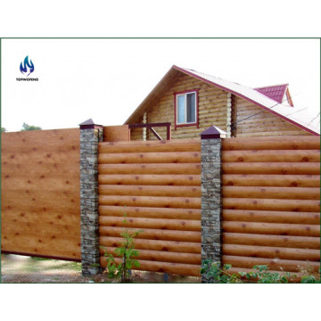 Wood steel fence material