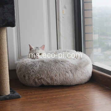 Mewah Velvet Fur Donut Cat dan Dog Bed
