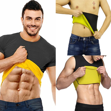 Neoprene Waist Trainer Belts Men's Body Shaper Sweat Vest Slimming Shirts new Sale Thermo Sauna Suit Weight Loss Black Shapewear