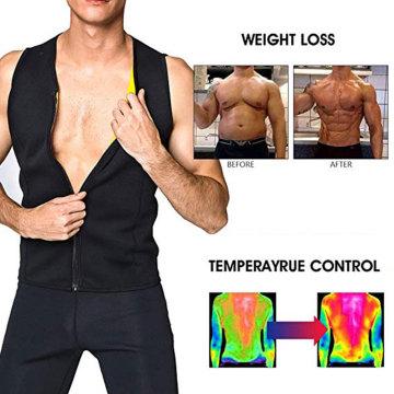 Men Corset Neoprene TShirt Bodysuit Sauna Suit Body Shaper Corset Sweat Vest for Weight Loss Belly Fat Burning Waist Trainer Top