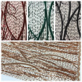 Poly Golden 3D Fringe Sequin Embroidery Fabric