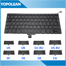 """New US UK Russian Spain French Germany Switzerland Replacement Keyboard For Macbook Pro 13"""" A1278 2009-2012 Years"""