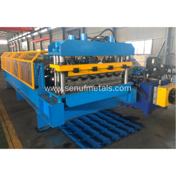 1010 aluminium glazed roofing tile roll forming machine