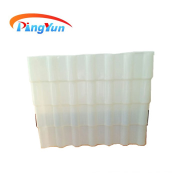 PVC translucent corrugated roof tile for lighting