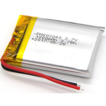 1000mAh Lithium Ion Polymer Battery For Speakers (LP3X4T8)