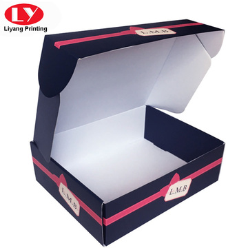 Navy colour a piece of corrugated gift box