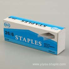Stainless Steel 26/6 Office Blister Packing Staples