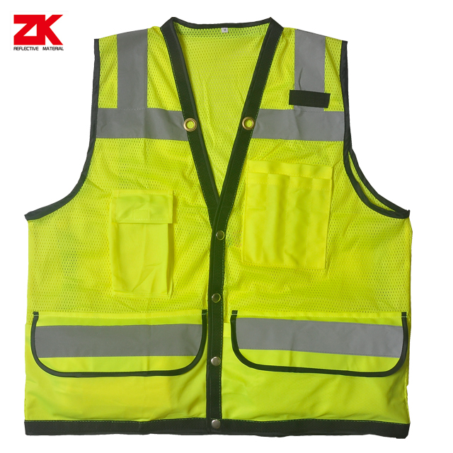 Shot sleeve warning vest with multi pocket