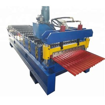 Corrugated roofing tile making roll forming machine