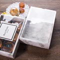 Marble pattern bakery food box with clear lid