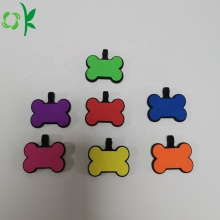 Cartoon Shaped Fashionable Silicone Pet Name Tag