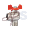 Angle type brass ball valve with union