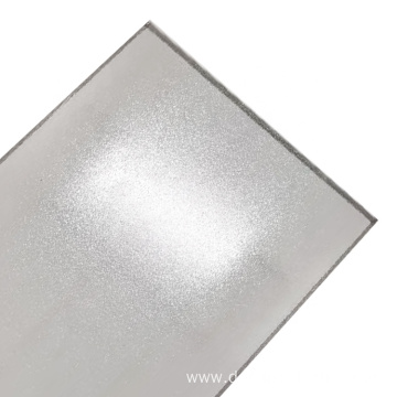 Translucent frosted solid polycarbonate board for indoor use