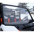 Hard coated clear solid polycarbonate windshield