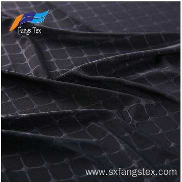 Polyester knitted Embossed Abaya Formal Black Ladies Fabric