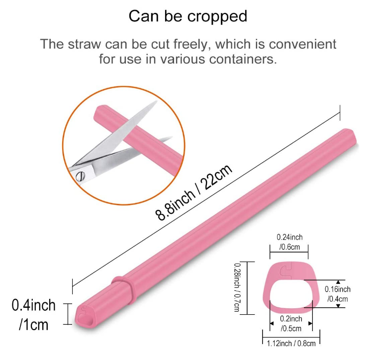 Silicone Openable Straws